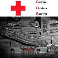 Paracord EDC Survival Key Chain / Flint Rod / Fire cord / Fishing Kit / Whistle