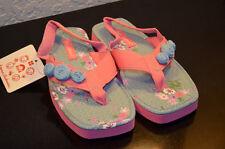 NWT Hanna Andersson Toddler Girls Floral Sandal Pink/Blue Size 11/12 (UK 29 30)