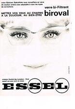 PUBLICITE ADVERTISING  1963   ESSEL  lunettes verre bi-filtrant BIROVAL