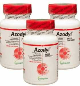 Vetoquinol Azodyl Kidney Health Supplement Capsules for Dogs and Cats-270 Count