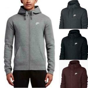 Nike Men's Sportswear Club Fleece Full Zip Athletic Training Hoodie