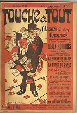 LIVRE TOUCHE A TOUT JANVIER 1908 N°1 CHARLES POURRIOL  ATHEME FAYARD