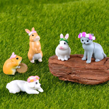 5pcs miniature plastic dessert wreath cat micro landscape decor kids gift GT