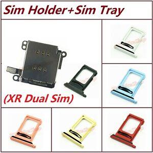 Lot OEM Dual Sim Card Reader Holder Slot Module Flex + Sim Tray For iPhone XR