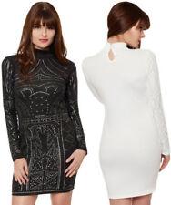 Robe mini blanc en polyester pour femme