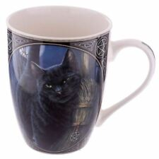 Lisa Parker Cat with Broom China Mug by Cup Fantasy Gothic Pagan