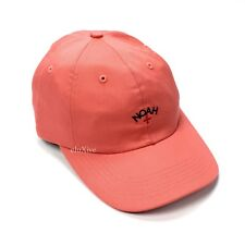 NWT Noah NY Men's Salmon Pink Core Logo Embroidered Dad Hat Cap SS18 AUTHENTIC