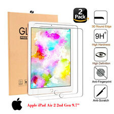 """2PC Premium Genuine Tempered Glass Screen Protector For Apple iPad AIR 2 9.7"""""""