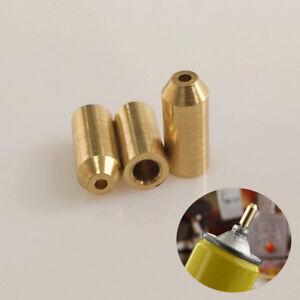 3Pc Brass Gas Refill Adapter For Lighter DIY Repair Kit