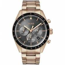 New Genuine Hugo Boss 1513632 Black Trophy/silver Bracelet Watch Warranty