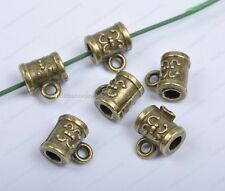 10Pcs antique bronze Bails charms Connectors hole 3MM