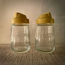 New ListingVintage Federal Housewares Chicago Glass Salt & Pepper Shakers: Yellow - 24 & 29