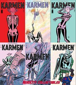 Karmen 1-5 Complete Including #1 Variant B Image Comics 2021 Lot of 6