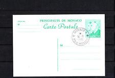 MONACO   entier postal  carte  1f80 vert  de 1986  oblitéré