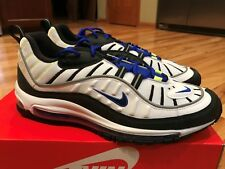 Nike Air Max 98 White Black Racer Blue Volt 640744 103 Men's Size 11.5