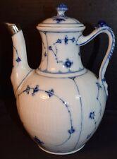 Antique Royal Copenhagen Porcelain Blue Lace Coffee Pot