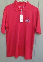 NEW MENS ST LOUIS CARDINALS SHORT SLEEVE POLO GOLF SHIRT SIZE MEDIUM RED CARDS