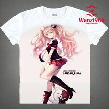 Short Sleeve White Cosplay Anime Dangan Ronpa Pullover T-Shirt Tops Otaku #Y10