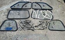 1 Vetro azzuro renault 4 r4 finestrino dx sx destro sinistro guarnizione lunotto
