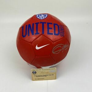 Autographed/Signed CHRISTIE RAMPONE Red Team USA Soccer Ball Steiner Sports COA