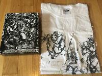New JoJo's Bizarre Adventure t shirt M Blu Ray anime Japan manga Jotaro white