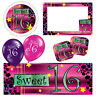 Snazzy Sweet 16 16th Birthday Pink Banners Decorations Balloons Party Supplies