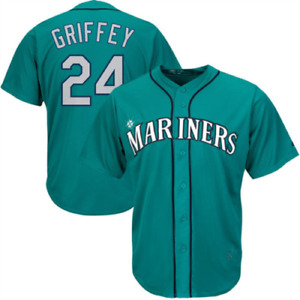Ken Griffey Jr #24 Seattle Mariners  Green All Over Print Baseball Jersey S-4XL