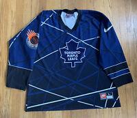 Toronto Maple Leafs Vintage 90's Nike Street Hockey Jersey Size L RARE