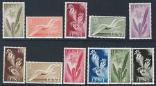 FLOWERS:IFNI 1953 Flowers and Birds set  SG101-111 mint