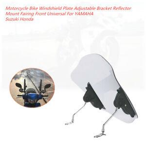 Motorcycle Windshield Plate Adjustable Bracket Reflector Fairing Front Universal