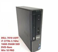 Dell Optiplex 7010 USFF Desktop Computer i7-3770s 16GB 256GB SSD Win 10 Pro DVD