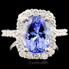 CERTIFIED $10465 14K Gold 4.59ct Tanzanite & 1.01ctw Diamond Ring
