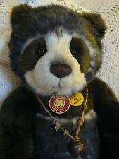 "CHARLIE BEAR RETIRED ""BREENY""...GORGEOUS PANDA...48 cm 2013 with TAGS & SCARF!!!"