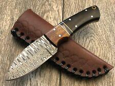 """ASH dh65 Damascus steel custom handmade hunting skinner knife 7"""""""