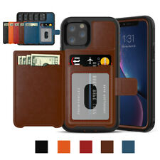 Credit Cards Holder Wallet Case with Magnetic Buckle Cover For iPhone 11 Pro Max