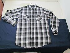 Mens Beverly Hills Polo Club Large Cotton/Poly NEW Plaid