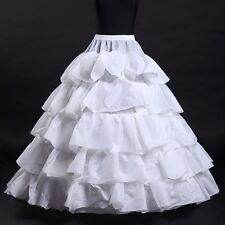 Bridal New 4 Hoop Petticoat Ruffle Crinoline Wedding Underskirt Gown Dress Skirt