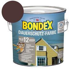 Bondex Dauerschutz-Farbe Holzfarbe Kakao Schokoladenbraun 2,5 Liter