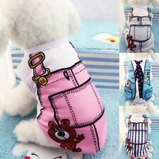 Pet Puppy Small Dog Cotton Costume Apparel Clothes Dress Vest T Shirt Coat UK