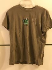 WOMEN'S LIFE IS GOOD T-SHIRT SIZE S, OLIVE START ME UP