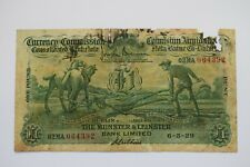 More details for munster leinster bank currency commission one £1 pound/punt 4/5/1929 02ma 064392