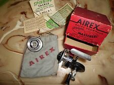 Vintage Bache Brown Airex Mastereel 1/2 Bail Spinning Reel w/ Box made in USA