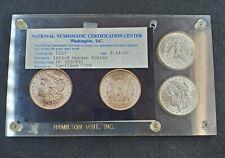 2 Coin 1898 O Morgan Dollar Hamilton Mint Holder NNCC Phot Cert Obsolete Slabs