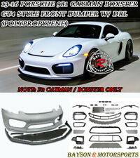 GT4-Style Front Bumper w/ Lip (PP) w/ DRL Fits 13-16 Porsche 981 Boxster Cayman