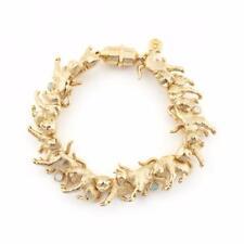Bill Skinner Yellow 18ct Gold Plated Crystal Statement Kitten Cat Bracelet
