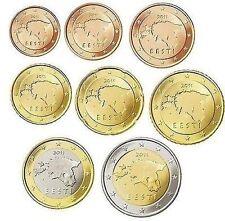 ESTONIA 8 PEZZI FIOR DI CONIO 2011 BLISTER MONETE EURO