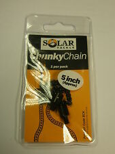 "Solar 5"" Black Chunky Chain Carp fishing tackle"
