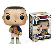 ELEVEN WITH EGGOS shaved head STRANGER THINGS funko POP! TELEVISION figure 421