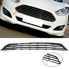 Front Bumper Lower Center Grill Grille Chrome + Black For Ford Fiesta 2013-2016