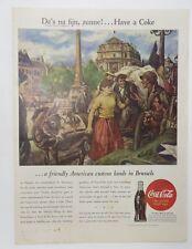 Original Print Ad 1945 COCA-COLA Coke Da's na Fijn Have a Coke Vintage Artwork